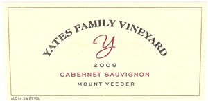 YFV CS09Label Yates Family Vineyard Update
